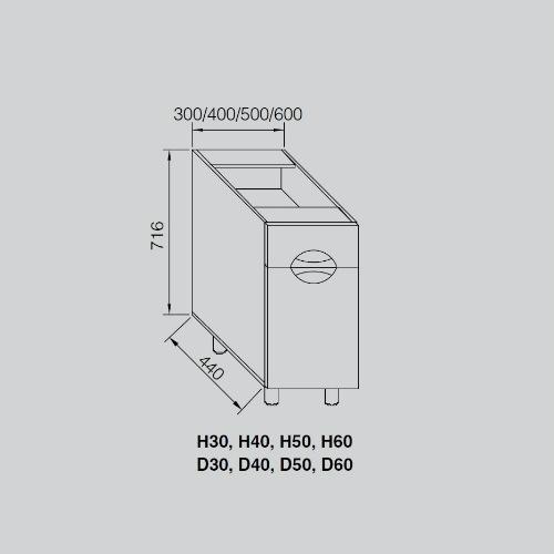Кухонный модуль Адель Люкс Н 30