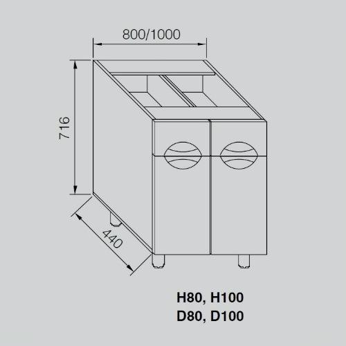 Кухонный модуль Адель Люкс Н 80