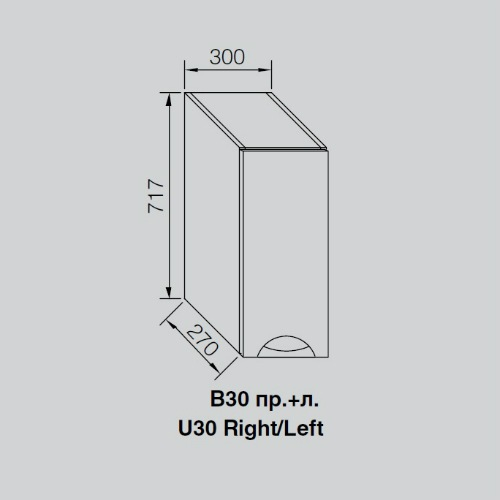 Кухонный модуль Адель Люкс В 30