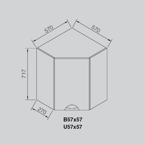 Кухонный модуль Адель Люкс В 57×57