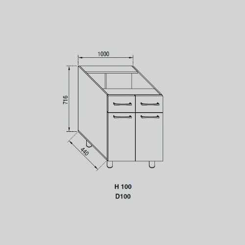 Кухонный модуль Адель Н 100