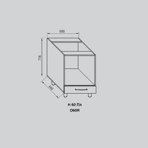 Кухонный модуль Адель Н 60Пл