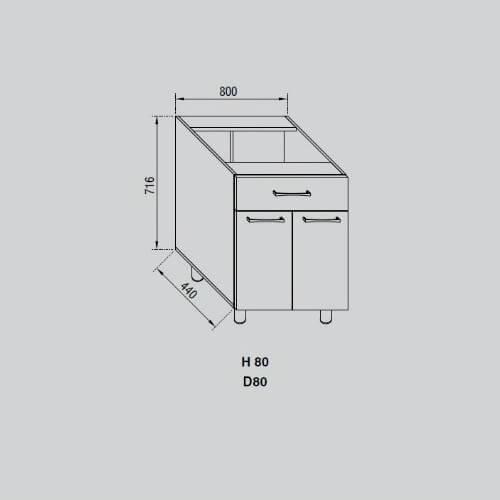 Кухонный модуль Адель Н 80