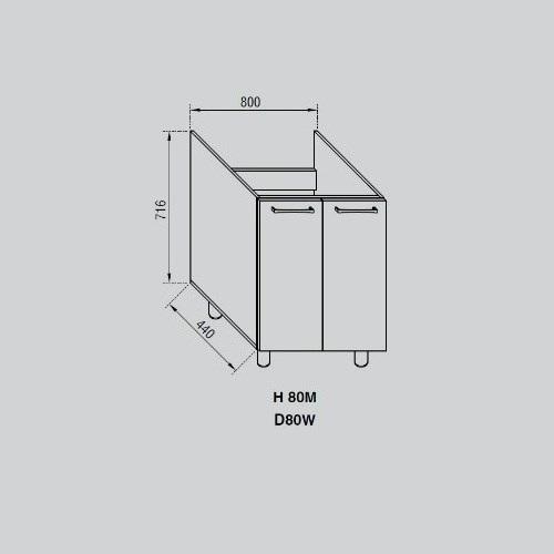 Кухонный модуль Адель Н 80М