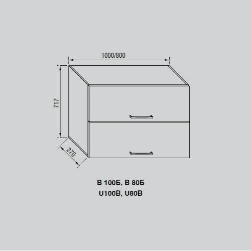 Кухонный модуль Адель В 100Б
