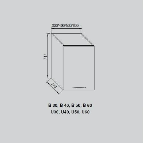 Кухонный модуль Адель В 30