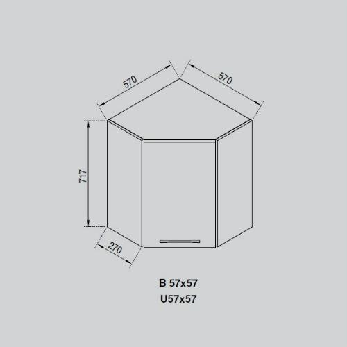 Кухонный модуль Адель В 57х57