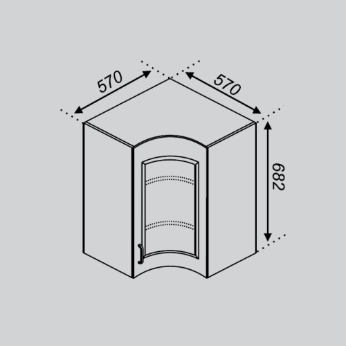 Кухонный модуль Оля Р 57×57Ск
