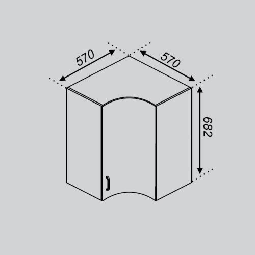 Кухонный модуль Оля Р 57×57