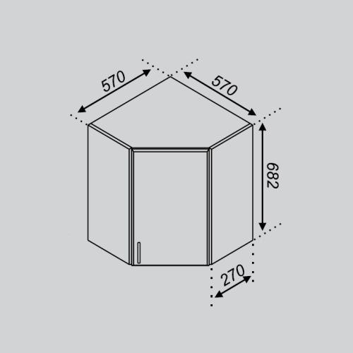 Кухонный модуль Тюльпан 57×57Ск