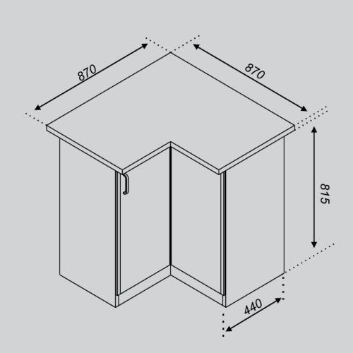 Кухонный модуль Тюльпан 87×87