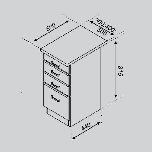 Кухонный модуль Тюльпан Н 30Ш
