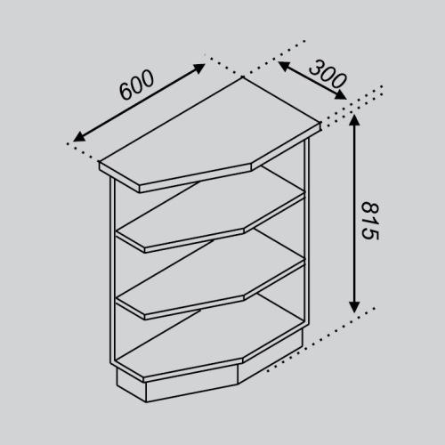 Кухонный модуль Тюльпан Н 30КЗ