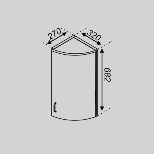 Кухонный модуль Тюльпан В 32КЗЗ