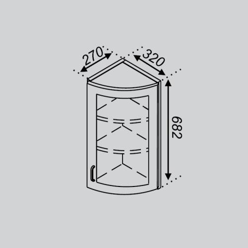 Кухонный модуль Тюльпан В 32КЗЗ Ск