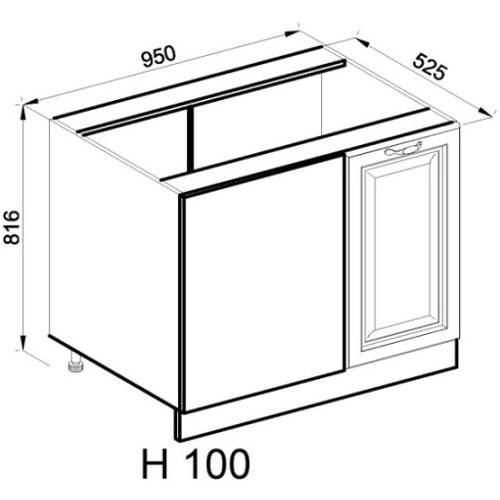 Кухонный модуль Роксана Н 100