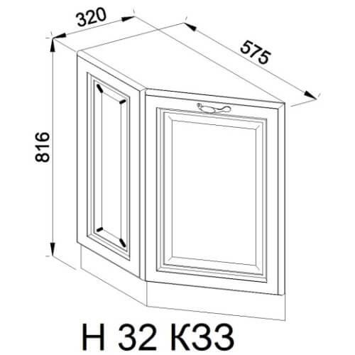 Кухонный модуль Роксана Н 32 КЗЗ