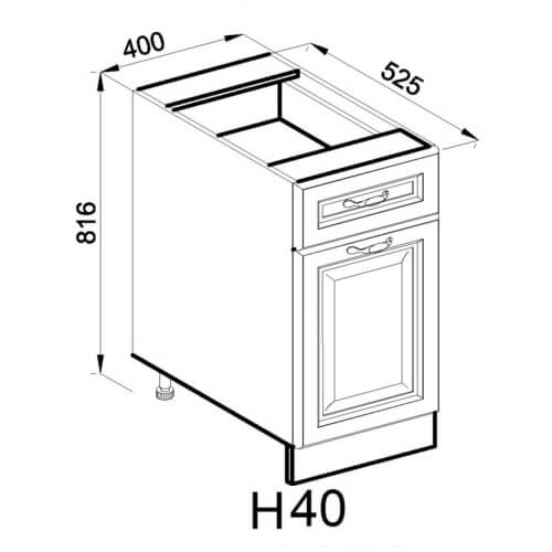Кухонный модуль Роксана Н 40
