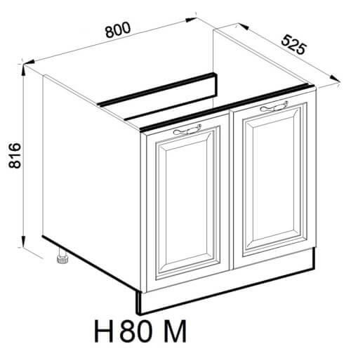 Кухонный модуль Роксана Н 80 М