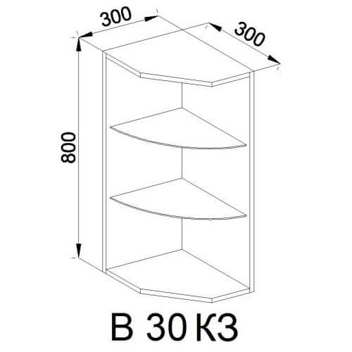Кухонный модуль Роксана В 30 КЗ