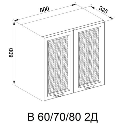 Кухонный модуль Роксана В 80 2Д