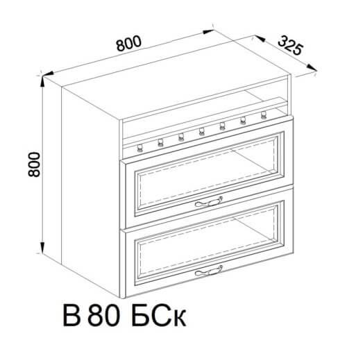 Кухонный модуль Роксана В 80 БСк
