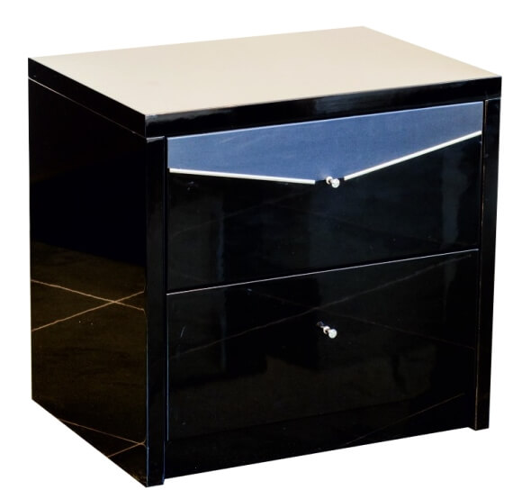 Тумба прикроватная Черный бриллиант (глянец)