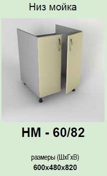 Кухонный модуль Гламур НМ-60/82