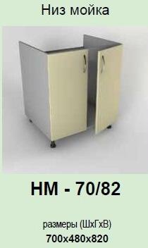 Кухонный модуль Гламур НМ-70/82