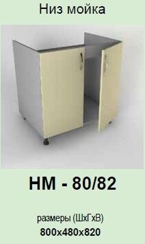 Кухонный модуль Гламур НМ-80/82