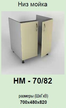 Кухонный модуль Платинум НМ-70/82