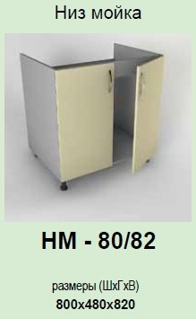 Кухонный модуль Платинум НМ-80/82