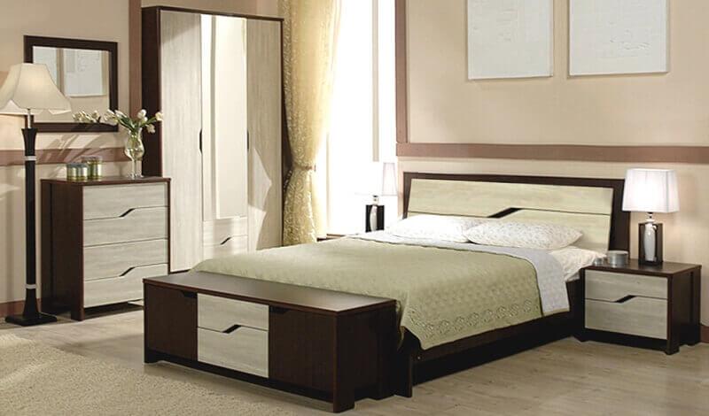 Спальня Доминика (венге/дуб молочный)