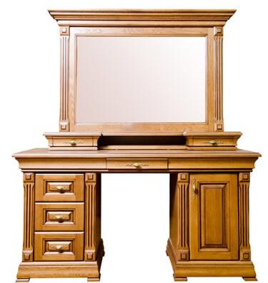 Туалетный столик Элеонора двухтумбовый с зеркалом и надставкой