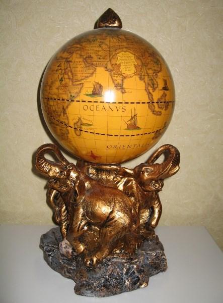 Глобус Слон новый