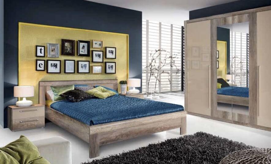 Спальня Джульетта (дуб арканзас темный/бронза)