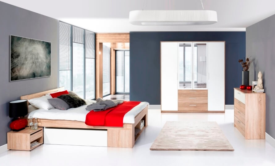 Спальня Рико (дуб сонома/белый)