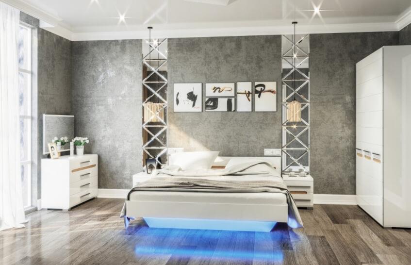 Спальня Бьянко (мдф)
