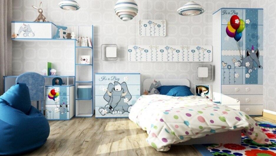 Детская кровать Elephant с бортиком