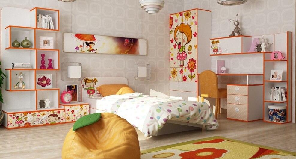 Детская кровать Mandarin с бортиками