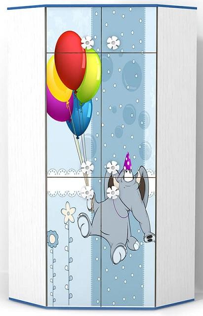 Детский шкаф Elephant угловой