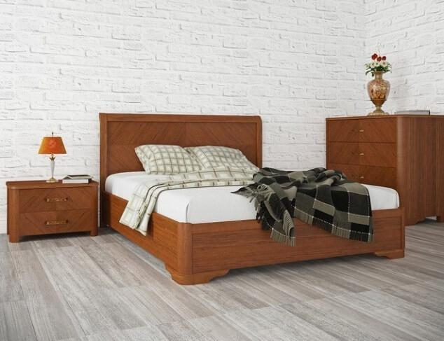 Кровать Милена 1,6 (с интарсией и механизмом)