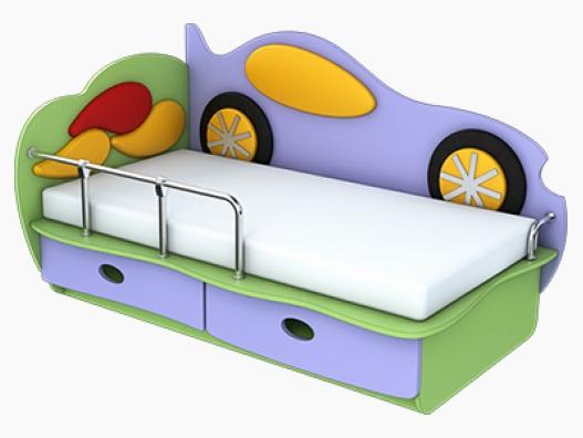 Детская кровать Машинка (1400х700)