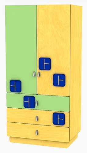 Детский шкаф Теремок Б-8 (комод)