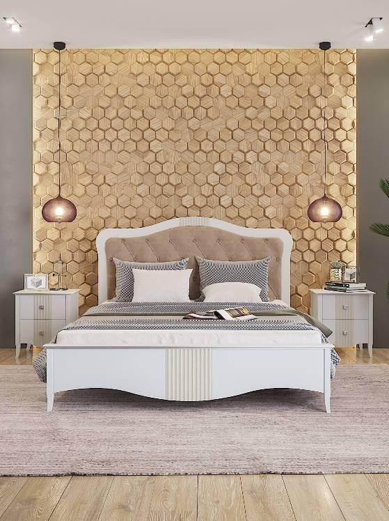 Кровать Sofia 1.8 (белая)