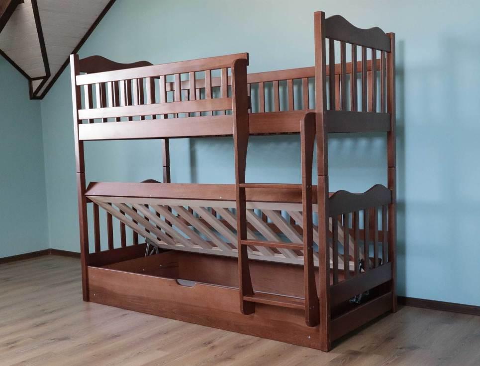 Двухъярусная кровать Рукавичка 0,9 (пм)