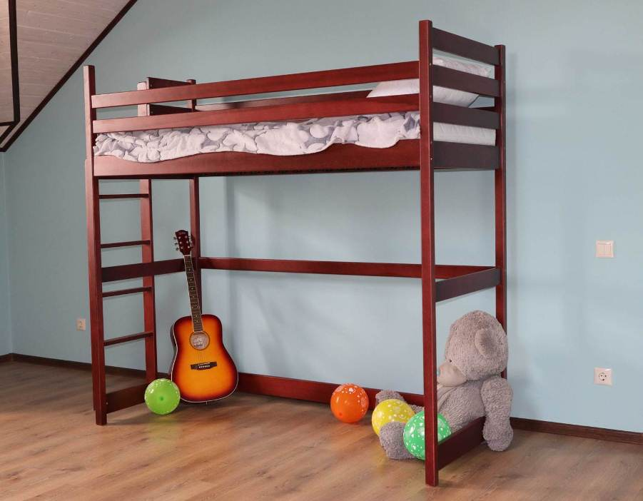 Двухъярусная кровать Шрек (чердак)